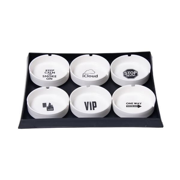 "Ceramic Ashtray - 3.9""   Assorted Designs   6..."