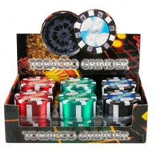 "12PC DISP - 2"" Metal 3pc Grinder - Poker Chip..."