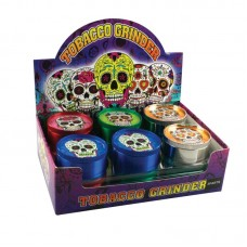 "2"" 3pc DOTD Sugar Skull Grinder - 12pc Displa..."