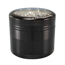 "2.2"" Sharpstone 4pc Clear Top Grinder - Black"