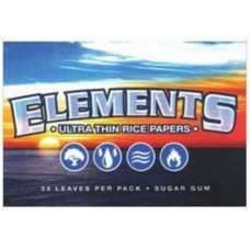 25pk Elements Ultra Thin 1 1/2 Rice Rolling Papers...