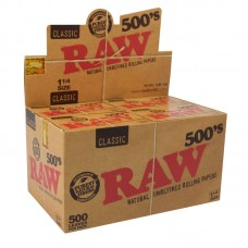 20pc Display - RAW Classic 500's Rolling Papers - ...