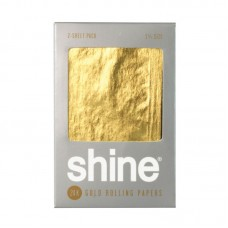 """2pk - Shine 24K Gold Rolling Papers - 1 1/4"""""""