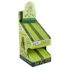 Zig Zag Organic Hemp Rolling Papers - 2-Tier Displ...