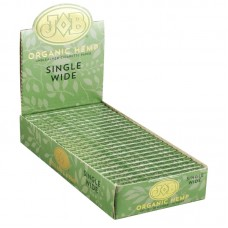 24PC DISPLAY - JOB Organic Hemp Rolling Papers -Si...