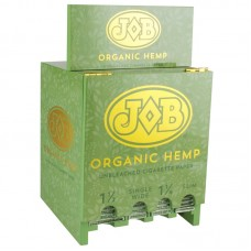 96PC DISPLAY - JOB Organic Hemp Rolling Papers