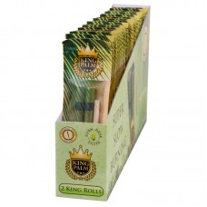 24PC DISPLAY - King Palm Hand Rolled Leaf - King