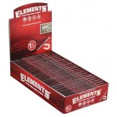 25PC DISP-Elements Red Slow Burn Hemp Rolling Pape...