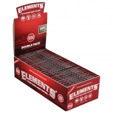 25PC DISP - Elements Red Hemp Rolling Papers - Sin...