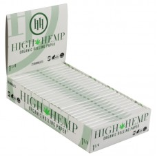 25PC DISPLAY - High Hemp Organic Rolling Papers - ...