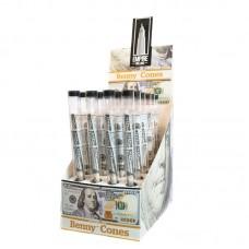 Benny Cones $100 Bill Cones - 3 Per Tube - 24pc Di...