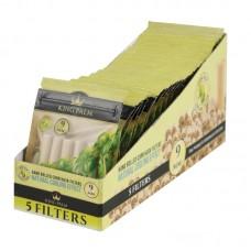 King Palm Corn Husk Filters - 5ct / 9mm - 24pc Dis...