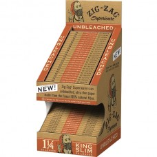 Zig Zag Unbleached Rolling Papers - 2-Tier Display