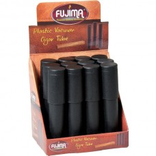 12PC DISPLAY - Fujima Plastic Vacuum Cigar Tube