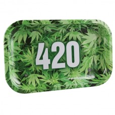 """V Syndicate Rolling Tray - 420 Green / 10.5""""x..."""